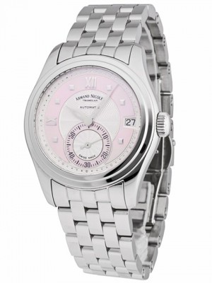poza ceas Armand Nicolet M03 Small Seconds Date Steel Pink