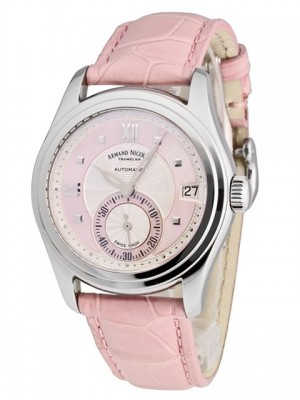 poza ceas Armand Nicolet M03 Small Seconds Date Steel Pink 2