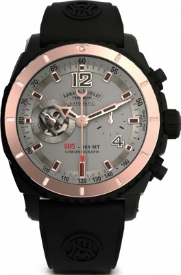 poza Armand Nicolet S05 Black D.L.C.18kt Gold Chronograph Automatic D714AQNGSGG4710N