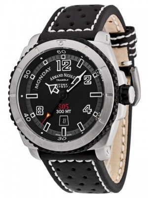 poza ceas Armand Nicolet S05 Day Date Steel Black