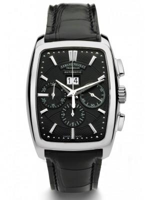 poza ceas Armand Nicolet TM7 Big Date Chronograph Steel Black