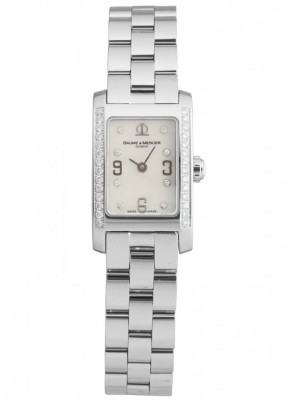 poza Baume Mercier Hampton Classic Steel Diamonds