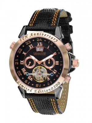 poza ceas Calvaneo 1583 Astonia 5 Rose Gold Black