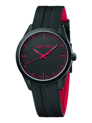poza ceas Calvin Klein Color Gent Black Red