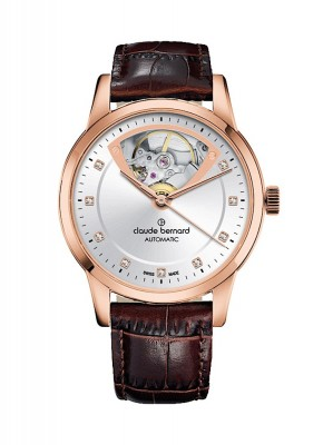 poza Claude Bernard Classic Open Heart Automatic 85018 37R AIR3