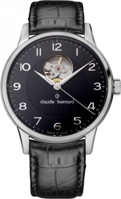 poza ceas Claude Bernard Sophisticated Classics Automatic Open Heart 85017 3 NBN