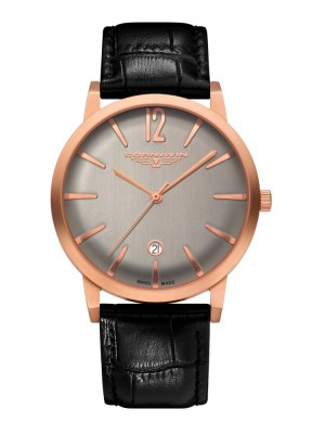 poza ceas Cornavin Bellevue Rose Gold Grey
