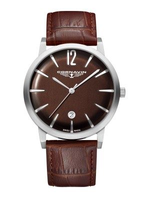 poza ceas Cornavin Bellevue Steel Brown