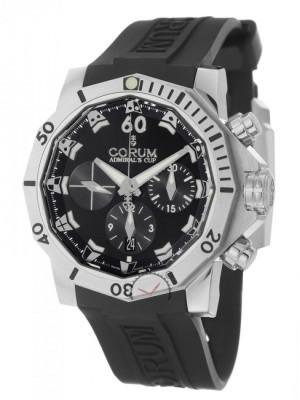 poza ceas Corum Admirals Cup Seafender Steel Black