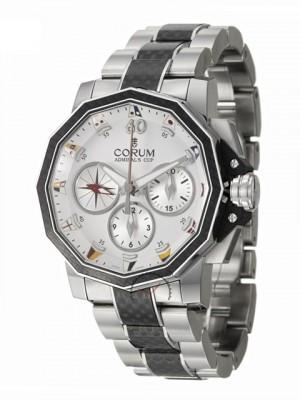 poza ceas Corum Admirals Cup Steel Carbon