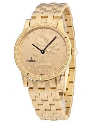 poza ceas Corum Coin Watch Gold