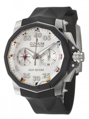 poza Corum Leap Second Titanium Black White