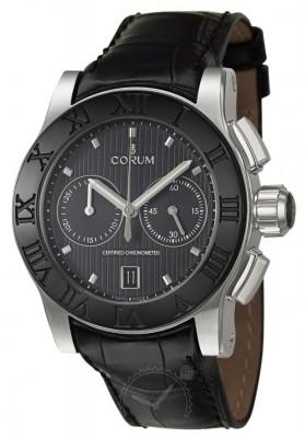 poza ceas Corum Romulus Chronograph Steel Black 2