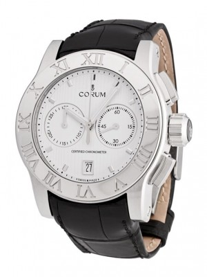 poza Corum Romulus Chronograph Steel White