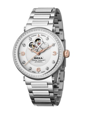 poza Doxa Calex Lady Diamond Steel