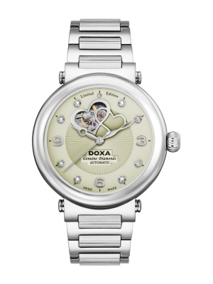 poza ceas Doxa Calex Lady Diamond Steel 4