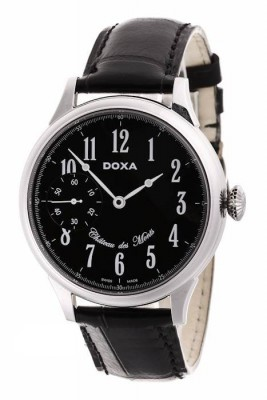 poza ceas Doxa Chateau Des Monts Steel Black Limited