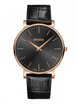 poza ceas Doxa D-Light Rosegold Black
