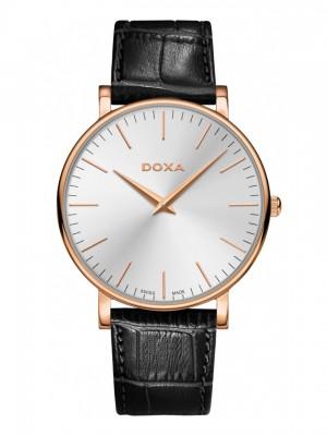 poza ceas Doxa D-Light Rosegold Silver