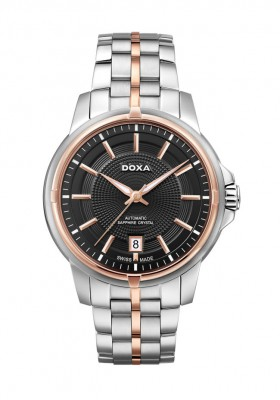 poza ceas Doxa Executive Steel Black Gold