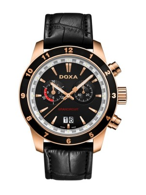 poza ceas Doxa Grancircuit Rose Gold Black
