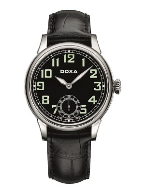 poza Doxa Pilot Vintage Steel Black 2