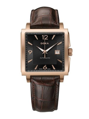 poza Doxa Quadro II Automatic Gold Black
