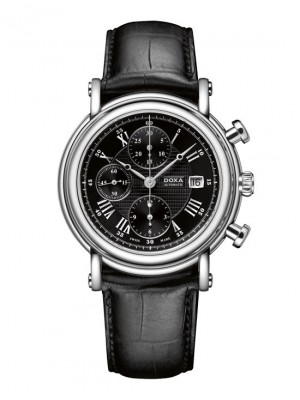 poza ceas Doxa TC Automatic Chronograph Steel Black