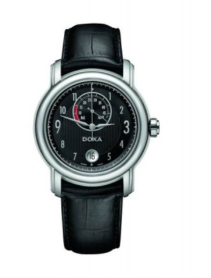 poza Doxa TC Two Power Reserve Steel Black
