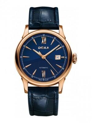 poza Doxa Vintage Gold Blue