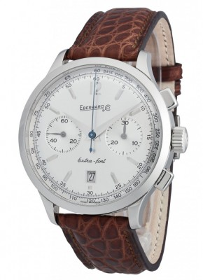 poza ceas Eberhard Extra Fort Chronograph Steel Silver