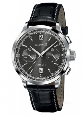 poza ceas Eberhard Extra Fort Grande Taille Steel Grey