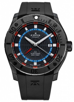 poza ceas Edox Chronoffshore 1 GMT Worldtimer Automatic 4