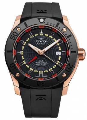 poza Edox Chronoffshore 1 GMT Worldtimer Automatic 93005 37R NOJ