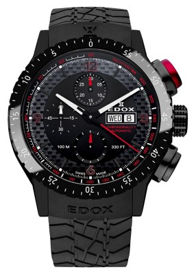 poza ceas Edox Chronorally 1 Automatik Black