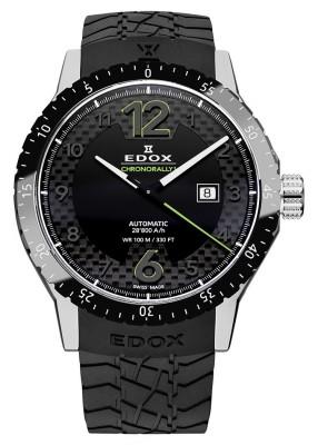 poza ceas Edox Chronorally 1 Automatik Black 2