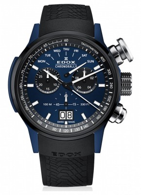 poza Edox Chronorally Chronograph Big Date 38001 TINBU1 BUIB1