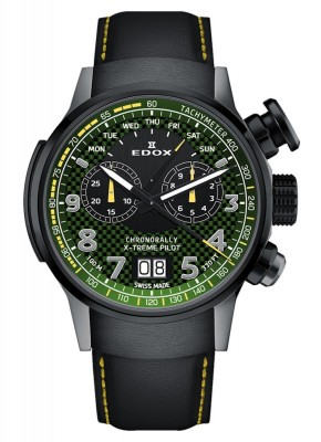 poza Edox Chronorally Xtreme Pilot Limited Edition Chronograph Quarz 38001 TINGN V3