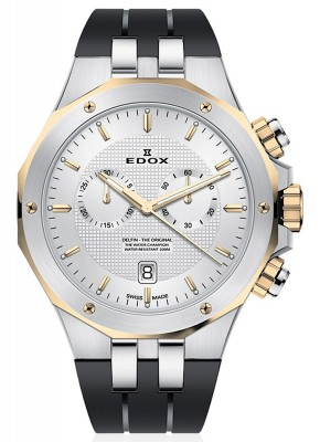 poza Edox Delfin Chronograph Date Quarz 10110 357JCA AID
