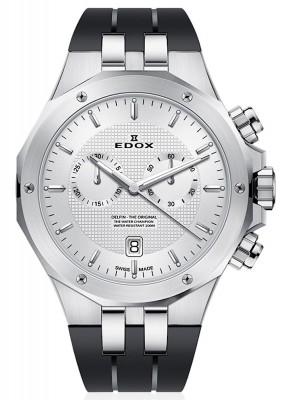 poza Edox Delfin Chronograph Date Quarz 10110 3CA AIN