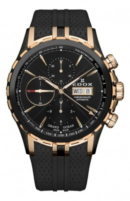 poza ceas Edox Grand Ocean Automatic Black Rose