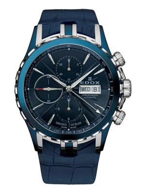 poza ceas Edox Grand Ocean Automatic Blue