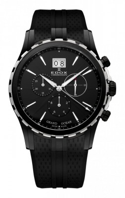 poza Edox Grand Ocean Chronograph Steel Black 2