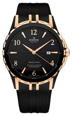 poza ceas Edox Grand Ocean Chronometer Black Rose