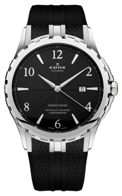 poza ceas Edox Grand Ocean Chronometer Steel Black