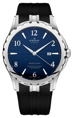 poza ceas Edox Grand Ocean Chronometer Steel Blue