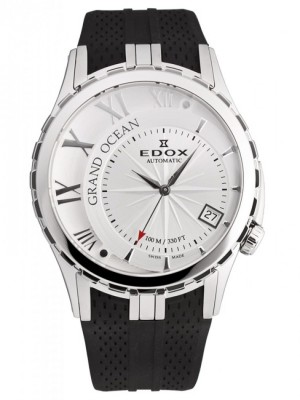 poza ceas Edox Grand Ocean Date Automatic Steel