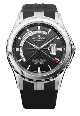 poza ceas Edox Grand Ocean Day Date Automatic Gent 83006 3 NIN