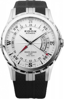 poza ceas Edox Grand Ocean GMT Steel