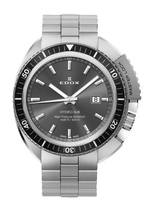 poza Edox HydroSub Diver Taucheruhr 53200 3NGM GIN